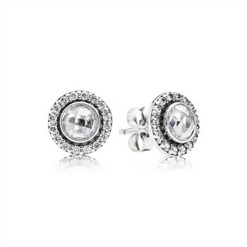 Pandora Brilliant Legacy Stud Earrings, Clear CZ 290553CZ