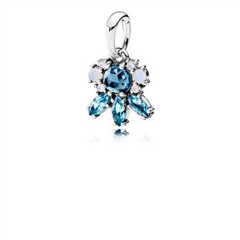 Pandora Patterns of Frost Pendant, Multi-Colored Crystal 390391NMBMX