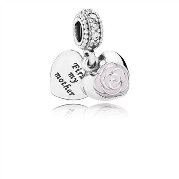 Pandora Mother's Rose, Pink Enamel & CLear CZ 791528EN40