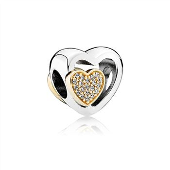 Pandora Joined Together Charm, Clear CZ 791806CZ