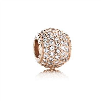 Pandora Pave Lights, PANDORA Rose & Clear CZ 781051CZ