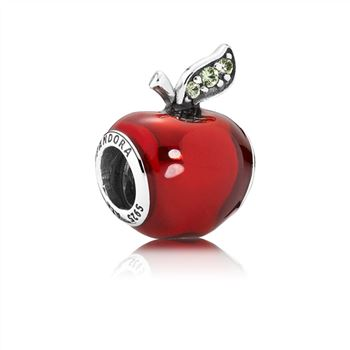 Pandora Disney, Snow White's Apple Charm, Red Enamel & Light Green CZ 791572EN73