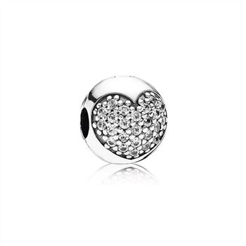 Pandora Love Of My Life Clip, Clear CZ 791053CZ
