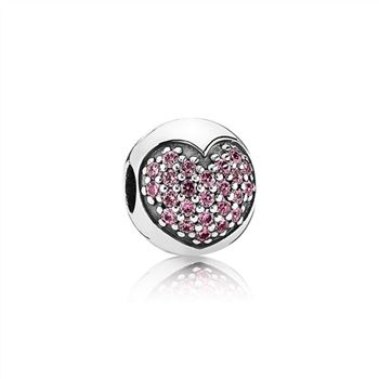 Pandora Love Of My Life Clip, Fancy Pink CZ 791053CZS