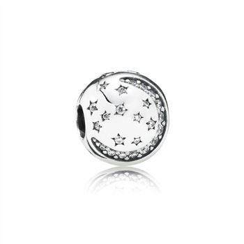 Pandora Twinkling Night Clip, Clear CZ 791386CZ