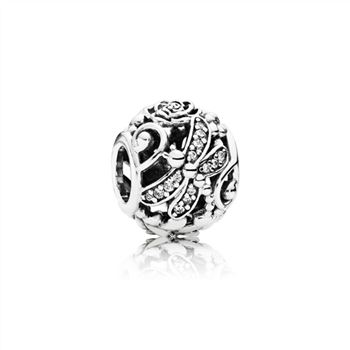 Pandora Dragonfly Meadow Charm, Clear CZ 791733CZ