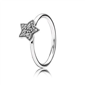 Pandora Star silver ring with cubic zirconia 190891CZ