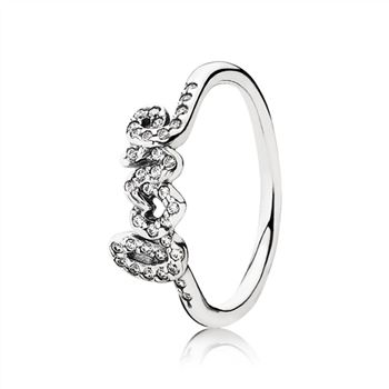 Pandora Signature Of Love Ring, Clear CZ 190928CZ