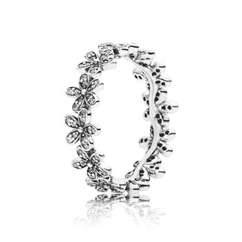 Pandora Dazzling Daisy Meadow Stackable Ring, Clear CZ 190934CZ