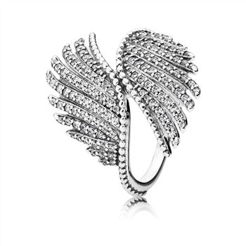 Pandora Majestic Feathers Ring, Clear CZ 190960CZ
