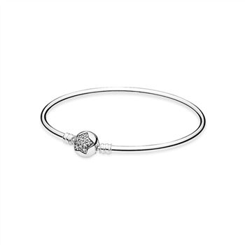 Pandora Silver bangle bracelet with cubic zirconia 590720CZ
