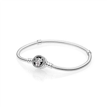 Pandora Poetic Blooms Bracelet, Mixed Enamels & Clear CZ 590744CZ