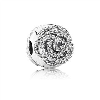 Pandora Shimmering Rose Clip, Clear CZ 791529CZ