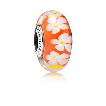 Pandora Tropical Flower Glass Murano Charm 791624