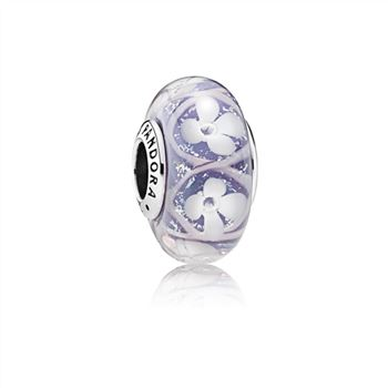 Pandora Purple Field of Flowers Charm, Murano Glass 791667