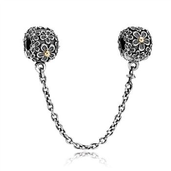 Pandora Two-toned Floral Safety Chain - PANDORA 790864