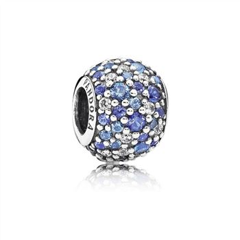 Pandora Sky Mosaic Pave Charm, Mixed Blue Crystals & Clear CZ 791261NSBMX