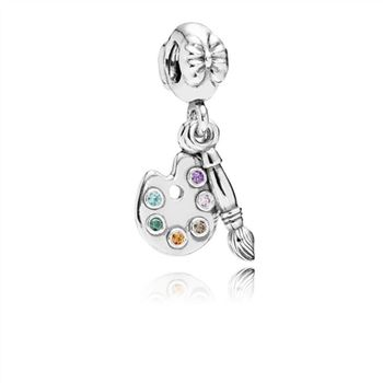 Pandora Artist's Palette Dangle Charm, Multi-Colored CZ 791268CZMX