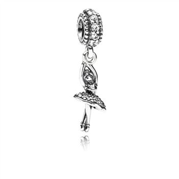 Pandora Ballerina Dangle Charm, Clear CZ 791365CZ