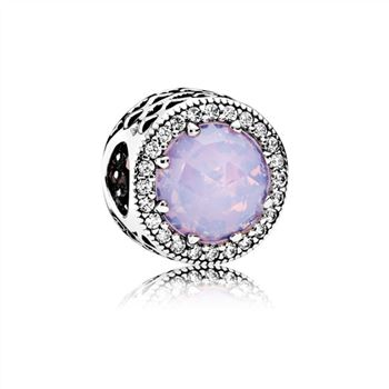 Pandora Radiant Hearts Charm, Opalescent Pink Crystal & Clear CZ 791725NOP