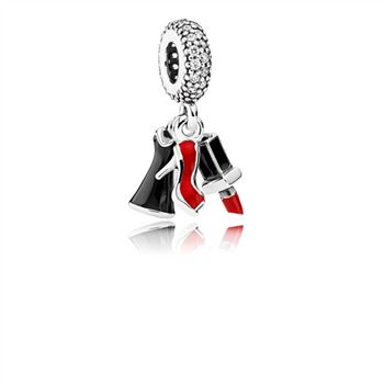 Pandora Glamour Trio Dangle Charm, Mixed Enamel & Clear CZ 792156ENMX