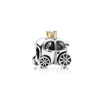 Pandora Fairytale Carriage Silver & Gold Charm - PANDORA 790598P