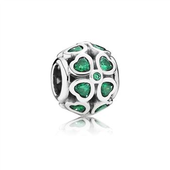 Pandora Green Lucky Clover, Dark Green CZ 791496CZN