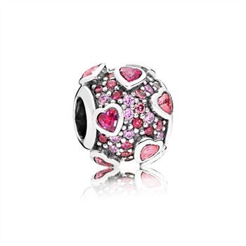 Pandora Explosion of Love Charm, Multi-Colored CZ 796555CZSMX